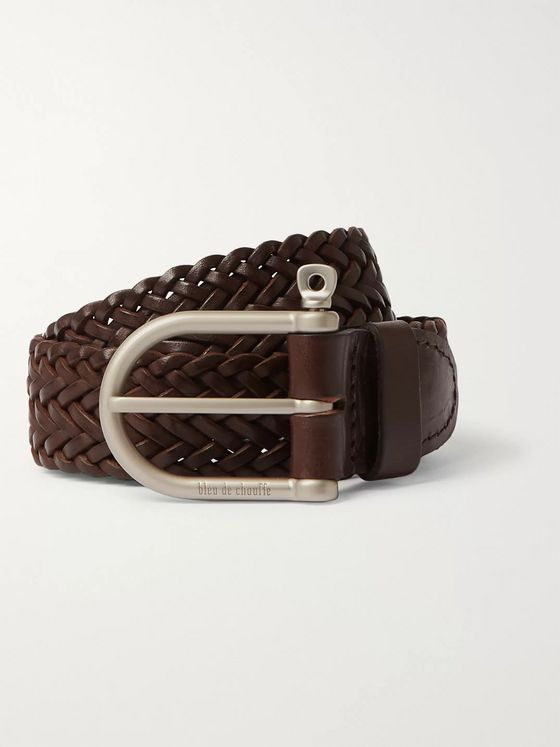 Bleu de Chauffe Woven Leather Belt