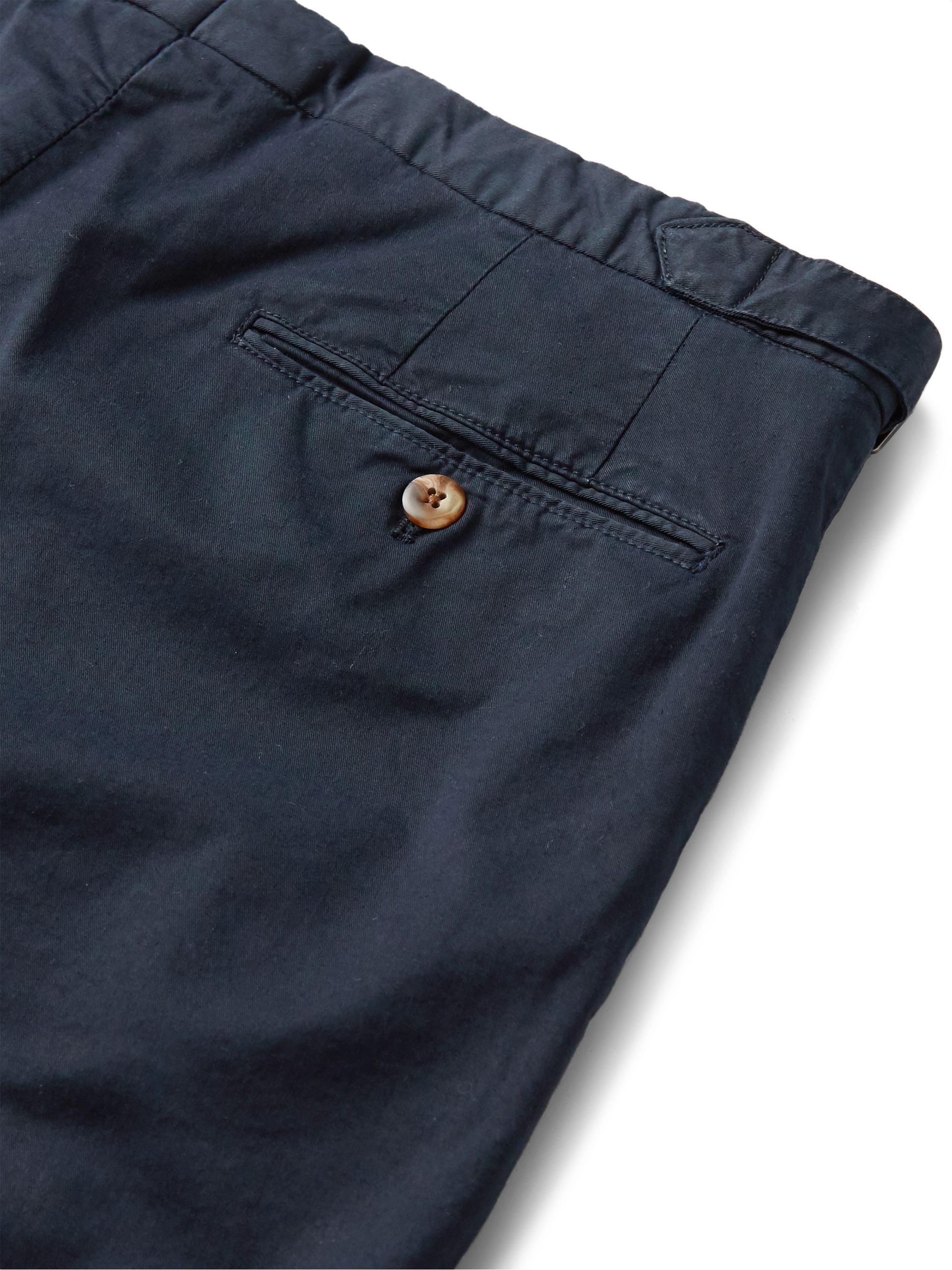 Thom Sweeney Cotton-Blend Twill Chino Shorts