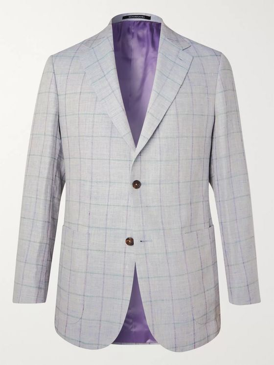 Richard James Checked Linen Blazer
