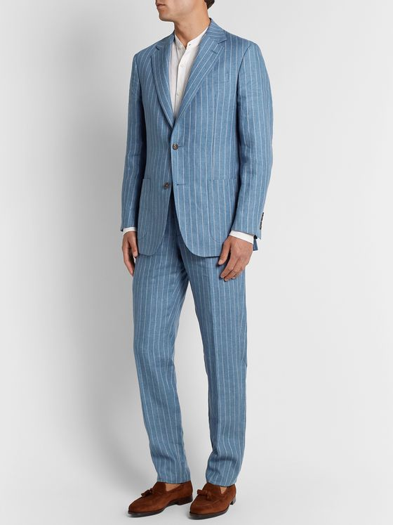 Richard James Striped Linen Suit Jacket