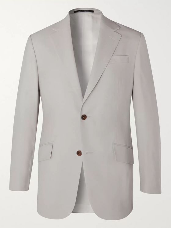 Richard James Wool Gabardine Suit Jacket