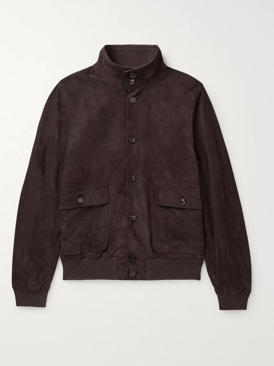 Thom Sweeney Milano Slim-Fit Suede Jacket