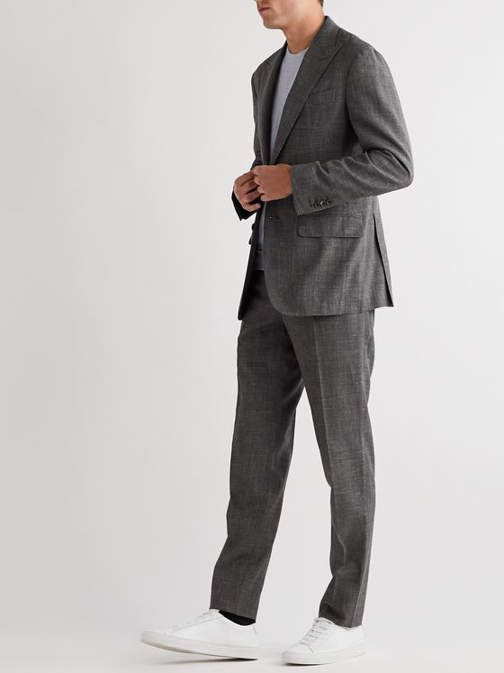 Thom Sweeney Unstructured Wool, Silk and Linen-Blend Suit Jacket