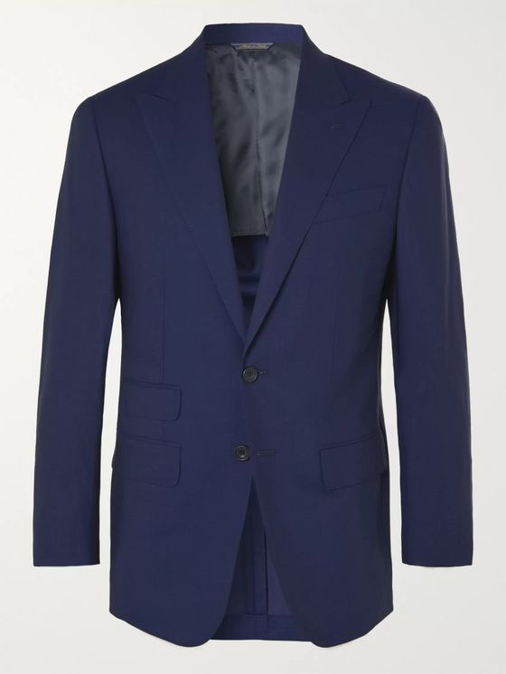Thom Sweeney Unstructured Wool Suit Jacket