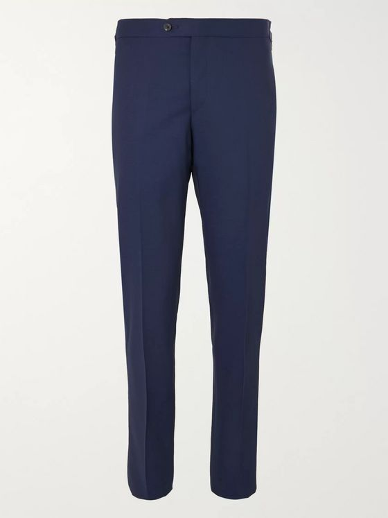 Thom Sweeney Slim-Fit Tapered Wool Suit Trousers