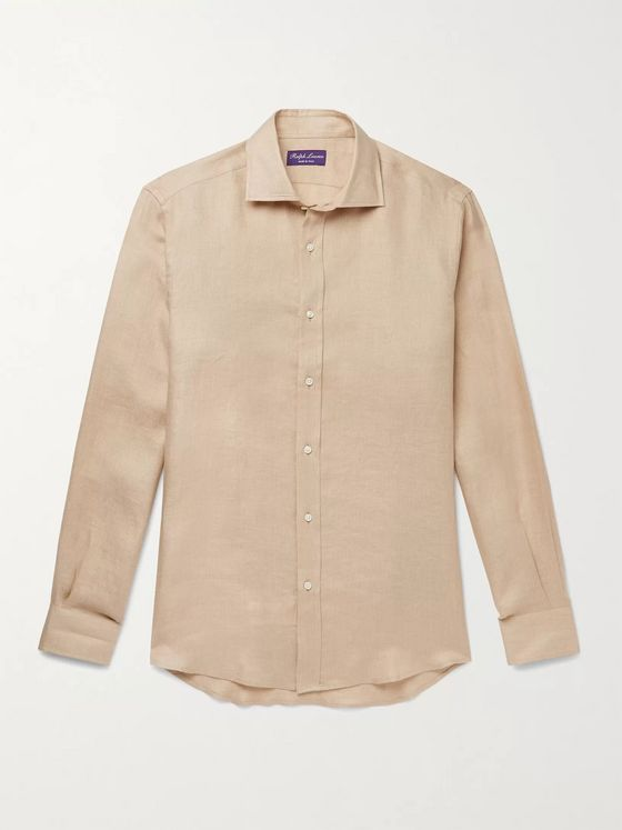 Ralph Lauren Purple Label Textured-Linen Shirt