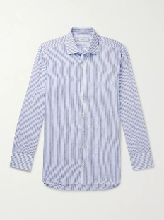 Turnbull & Asser Striped Linen Shirt