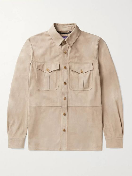 Ralph Lauren Purple Label Suede Shirt Jacket