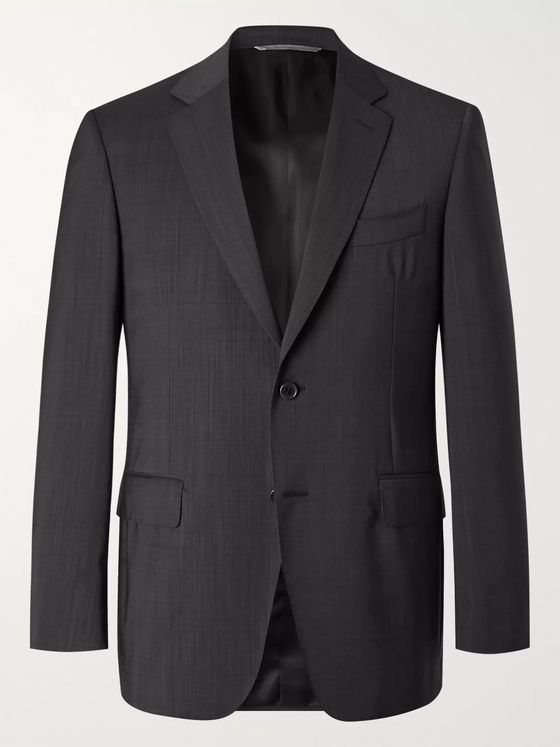 Canali Slim-Fit Nailhead Wool Suit Jacket