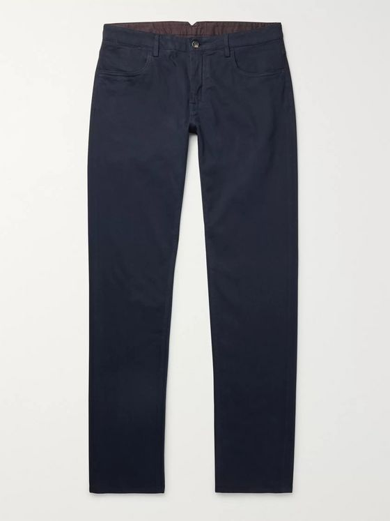 Canali Stretch Cotton and Cashmere-Blend Chinos