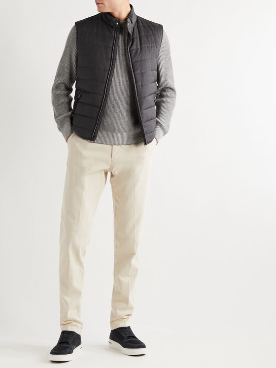 Canali Packable Quilted Wool Gilet