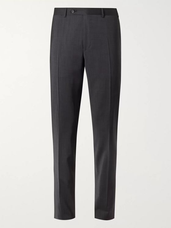 Canali Slim-Fit Nailhead Wool Suit Trousers