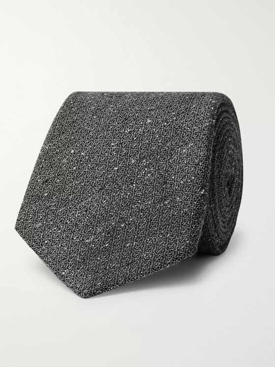 Canali 8cm Textured Wool and Silk-Blend Tie