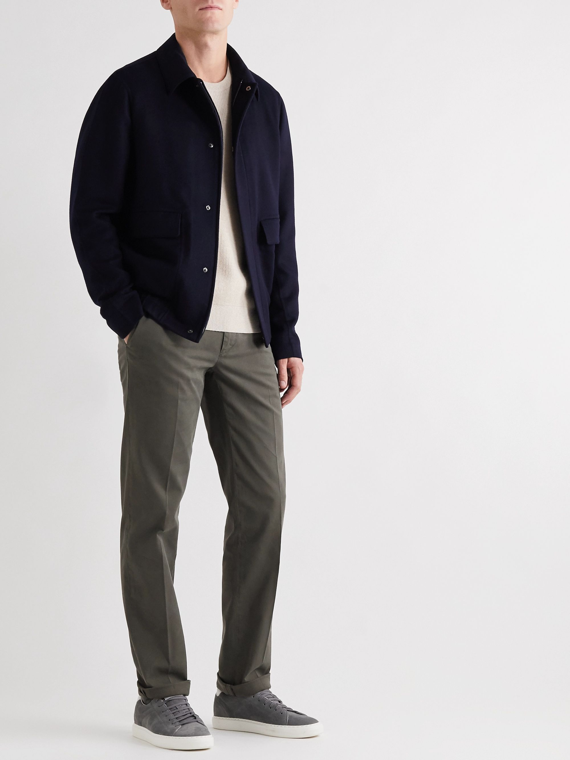 Canali Stretch-Cotton Twill Chinos