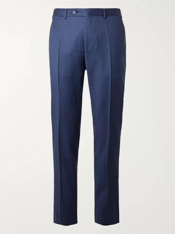 Canali Slim-Fit Wool Suit Trousers