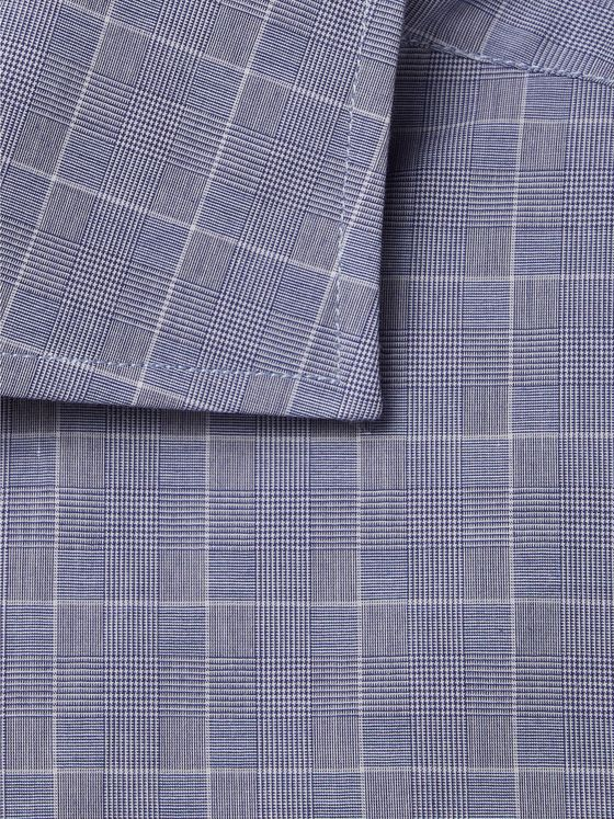 Canali Cutaway-Collar Prince of Wales Checked Cotton Shirt