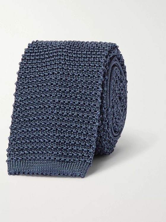 Canali 7cm Knitted Silk Tie