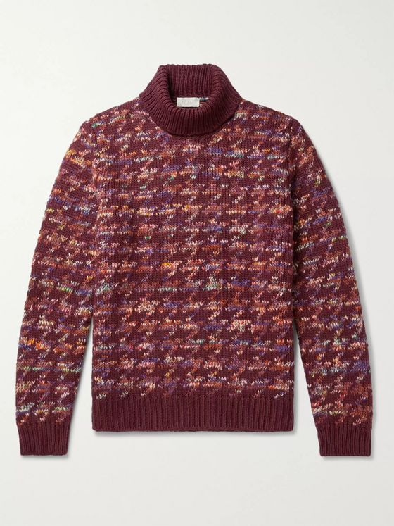 Altea Jacquard-Knit Rollneck Sweater