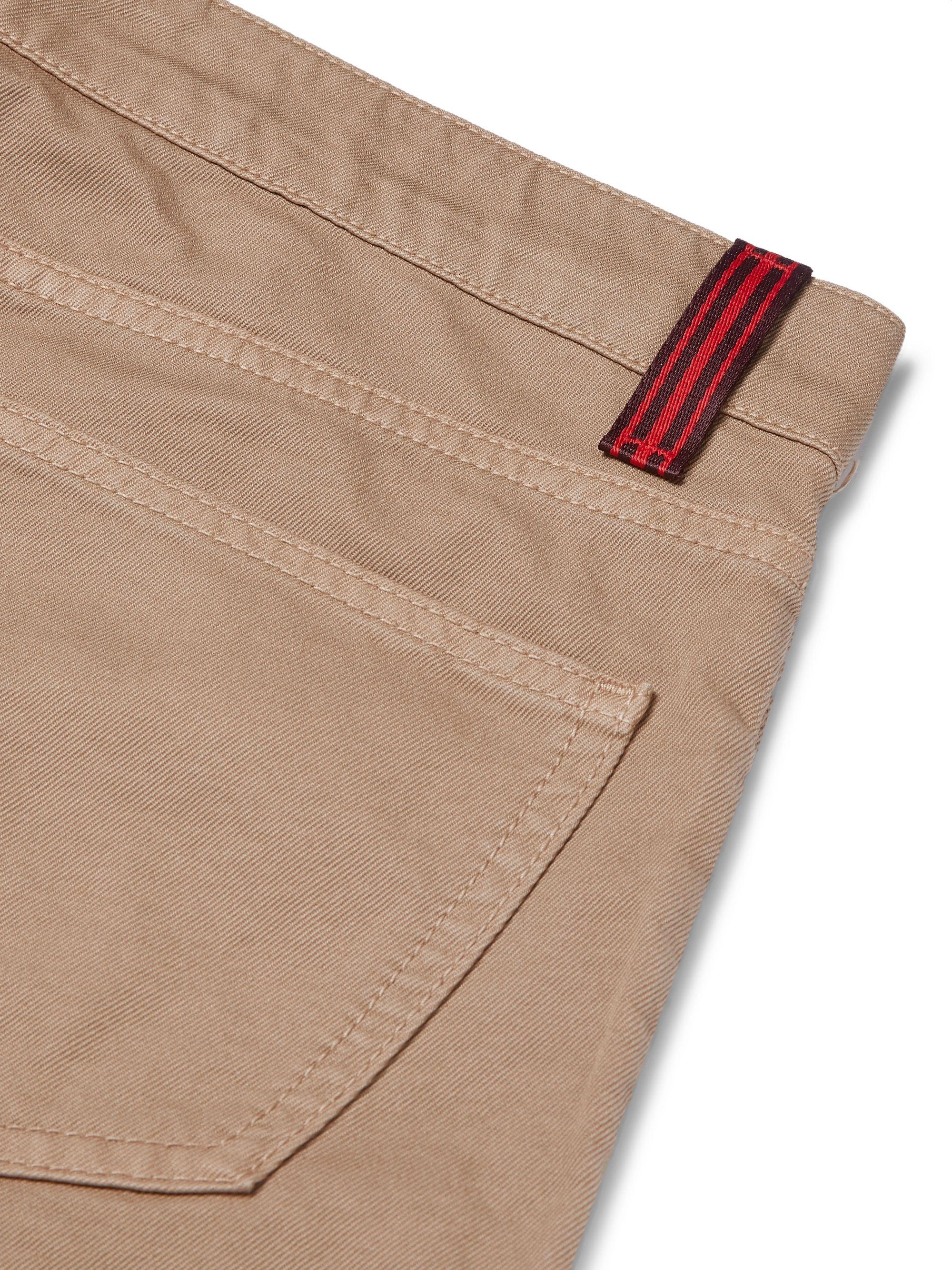 Beige Slim-fit Stretch-denim Jeans | Isaia