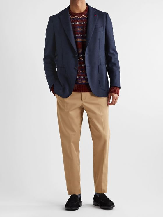 Isaia Slim-Fit Wool and Cashmere-Blend Blazer