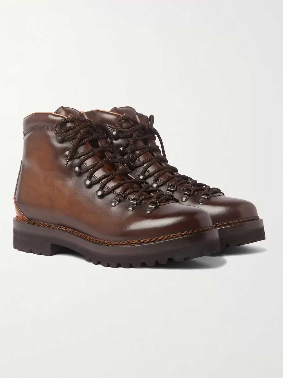 Ralph Lauren FIDEL BURNISHED-LEATHER BOOTS