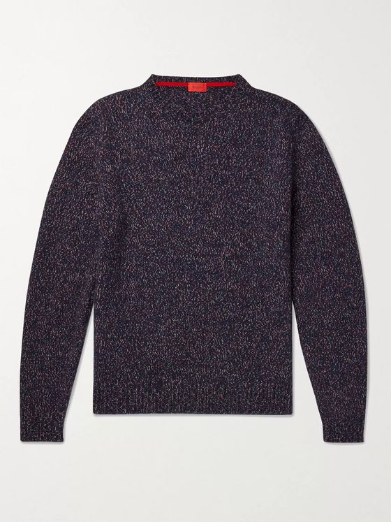 Isaia Donegal Cashmere Sweater