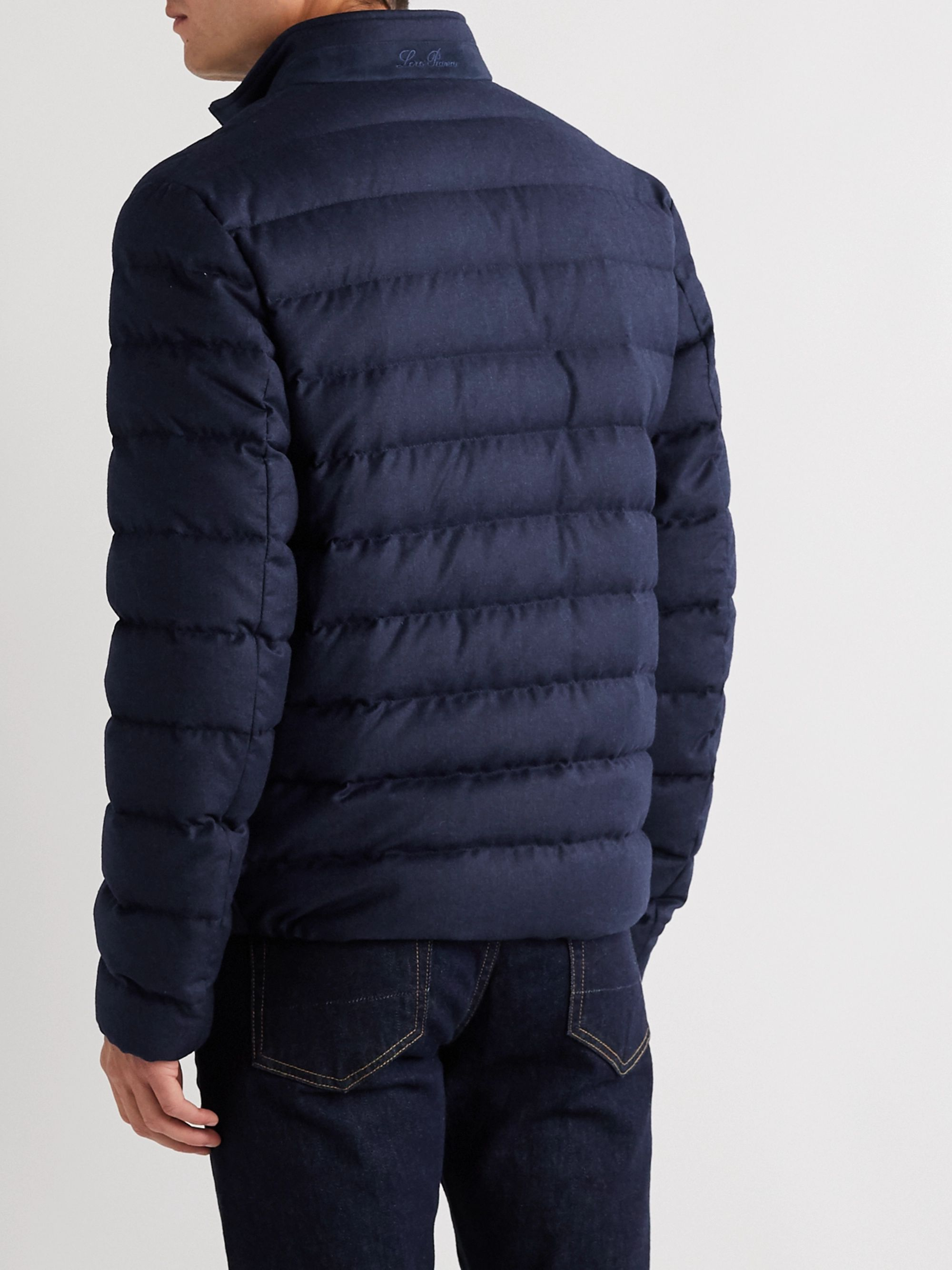 LORO PIANA Gateway Quilted Virgin Wool and Silk-Blend Down Jacket