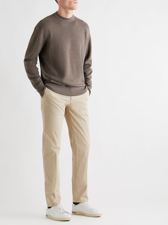 Loro Piana Hudson Virgin Wool, Silk and Cashmere-Blend Sweater