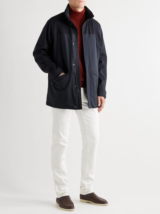 Loro Piana Lanbrook Padded Storm System Shell-Trimmed Virgin Wool and Cashmere-Blend Jacket