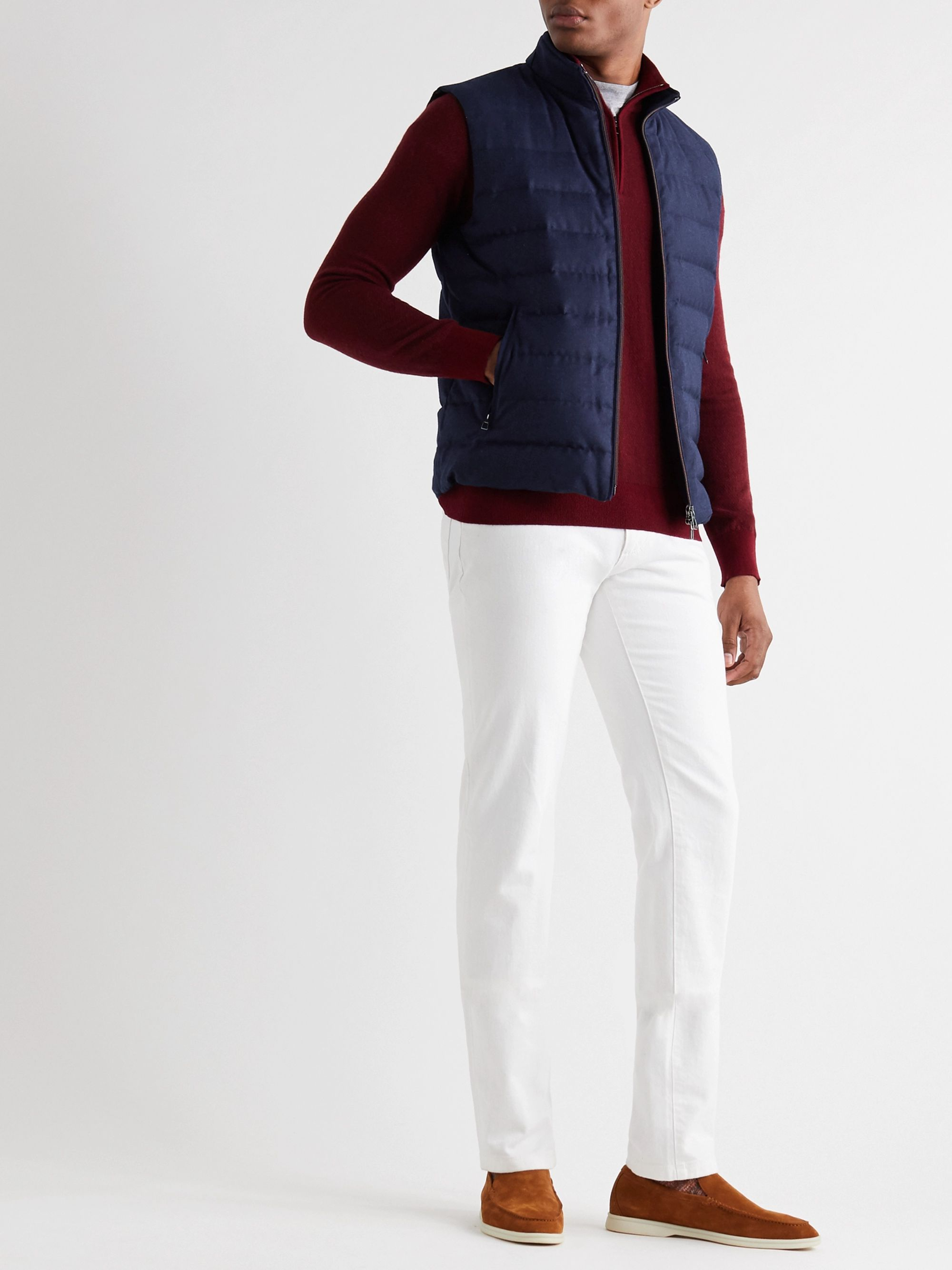 Loro Piana Rain System Quilted Virgin Wool and Silk-Blend Down Gilet