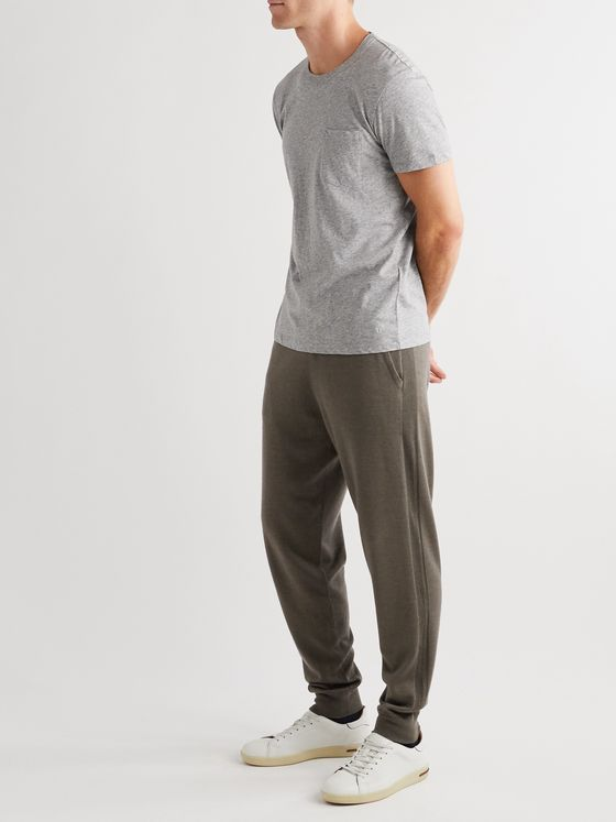 LORO PIANA Hudson Tapered Silk, Virgin Wool and Cashmere-Blend Track Pants