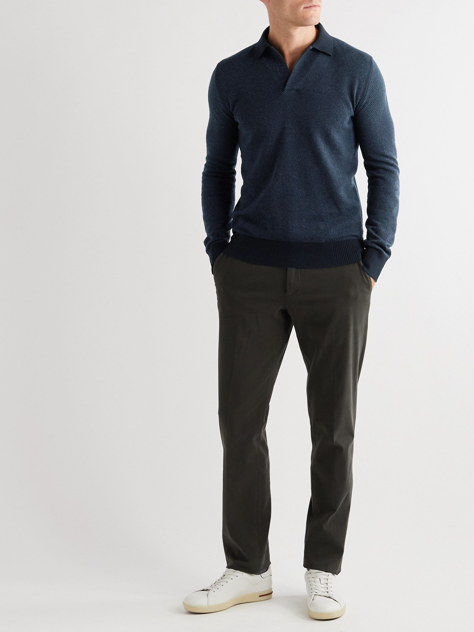 Loro Piana Roadster Slim-Fit Cashmere Polo Shirt