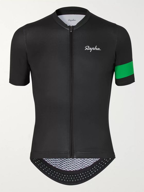 RAPHA + MR PORTER Health In Mind Pro Team Striped Panelled Cycling Jersey