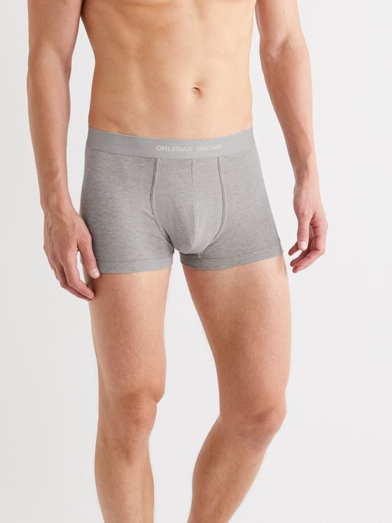 Orlebar Brown Three-Pack Mélange Stretch-Cotton Boxer Briefs