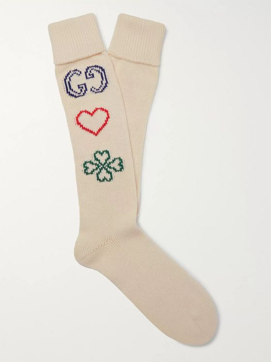 GUCCI Intarsia Cotton Socks