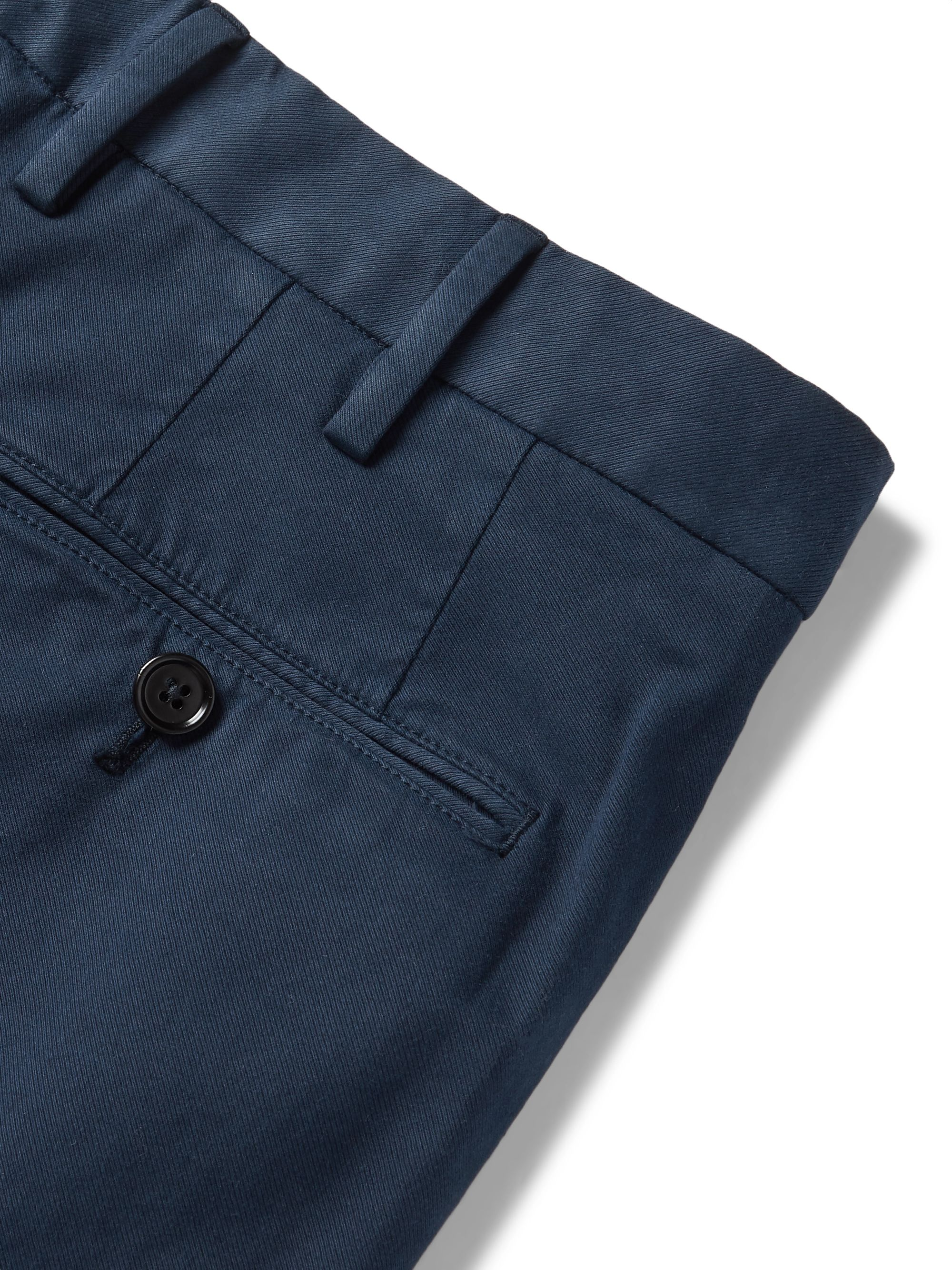 Ermenegildo Zegna Cotton-Blend Twill Trousers
