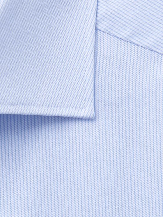 Ermenegildo Zegna Cutaway-Collar Striped Cotton Shirt