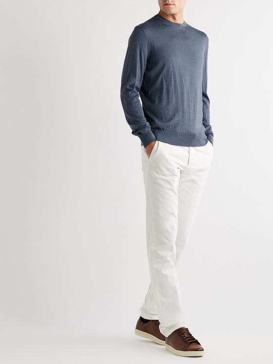 Ermenegildo Zegna Slim-Fit Cashmere and Silk-Blend Sweater