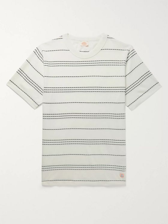 Armor Lux Barnaby Logo-Appliquéd Striped Cotton-Jersey T-Shirt