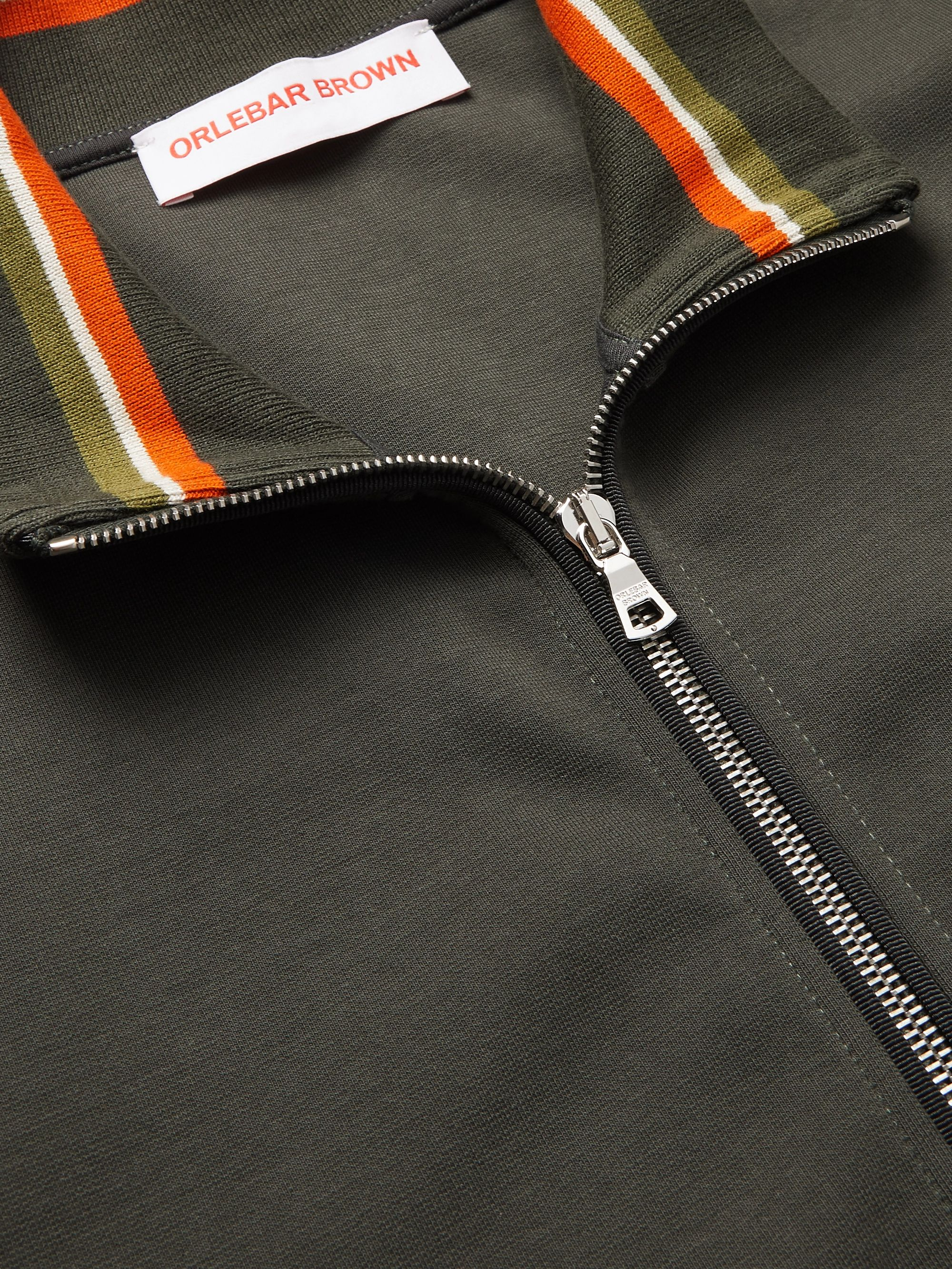 Green Egerton Stretch-cotton Jersey Track Jacket | Orlebar Brown