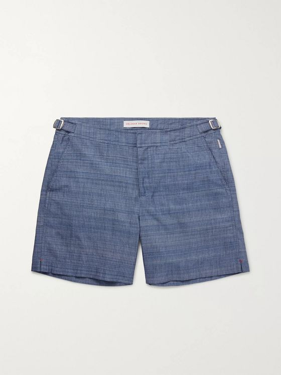 Orlebar Brown Bulldog Mid-Length Chambray Swim Shorts