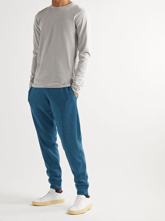 Orlebar Brown Beagi Slim-Fit Tapered Mélange Wool-Blend Sweatpants
