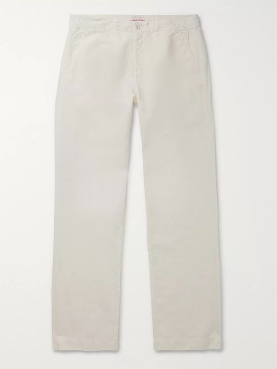 Orlebar Brown Telford Cotton and Linen-Blend Trousers
