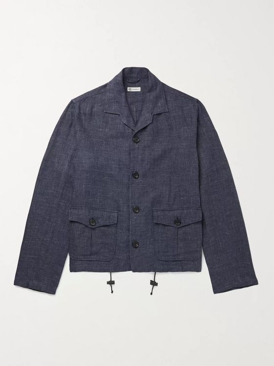 Connolly Mélange Linen and Cotton-Blend Shirt Jacket