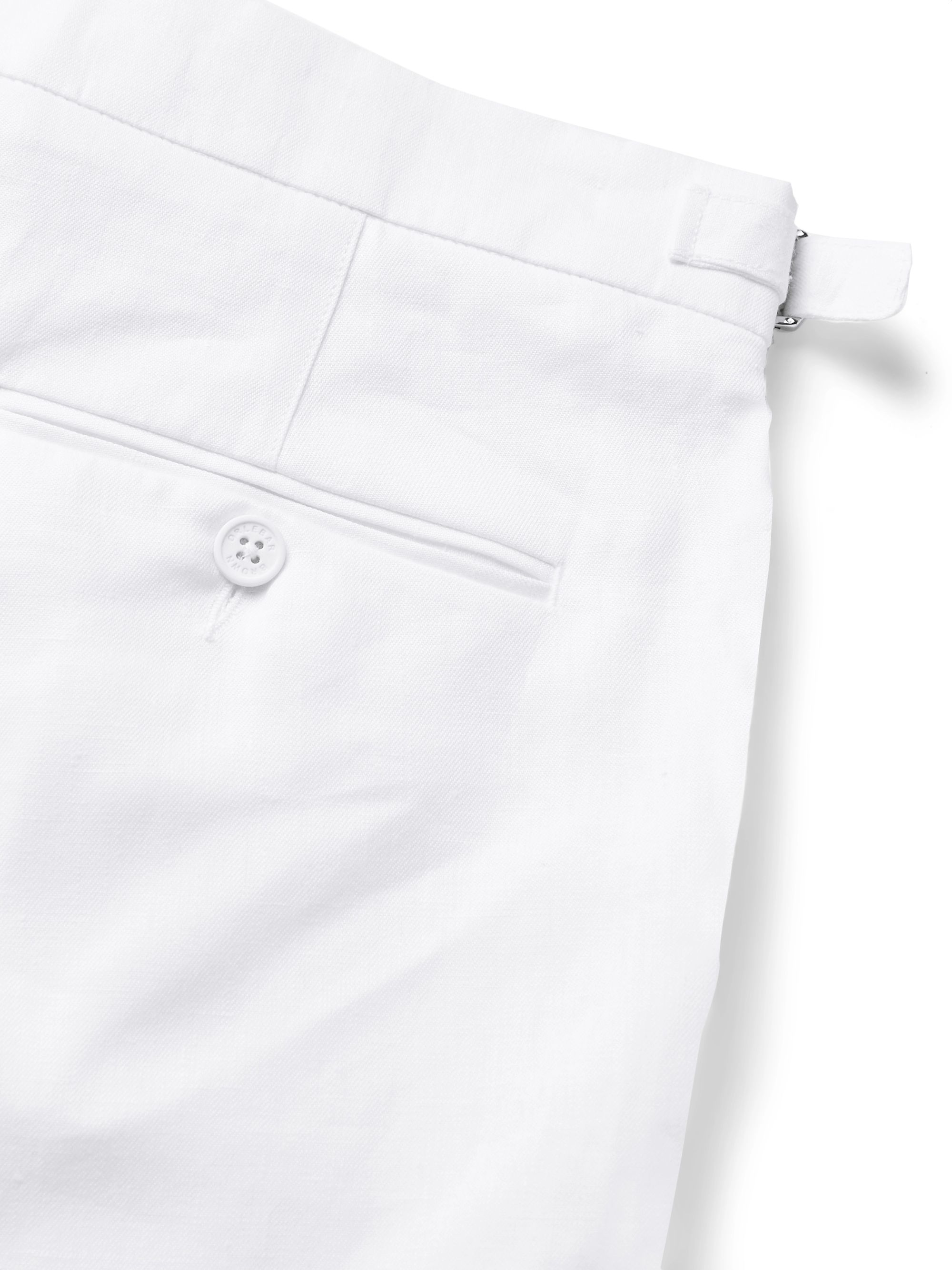 White Norwich Linen Shorts | Orlebar Brown