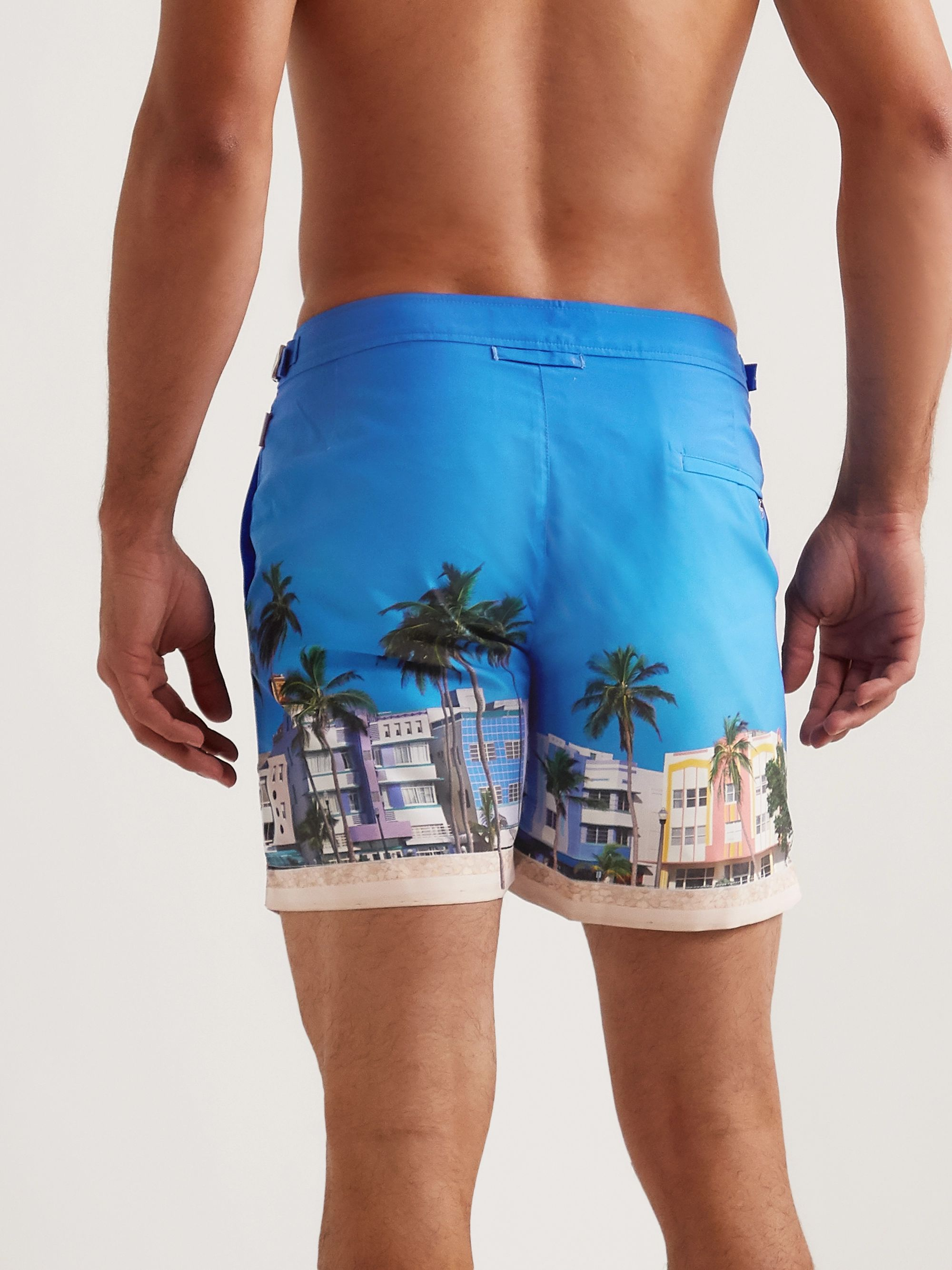 Orlebar Brown Bulldog Mid-Length Printed Swim Shorts
