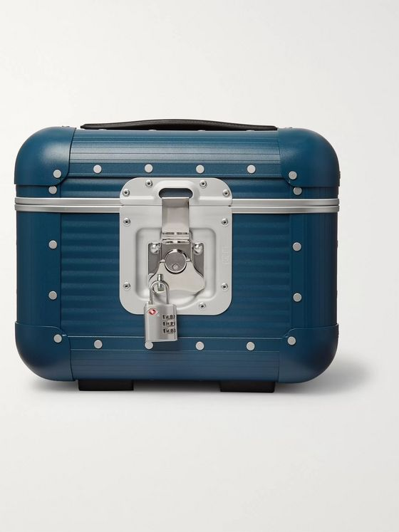 FPM MILANO Leather-Trimmed Aluminium Vanity Case