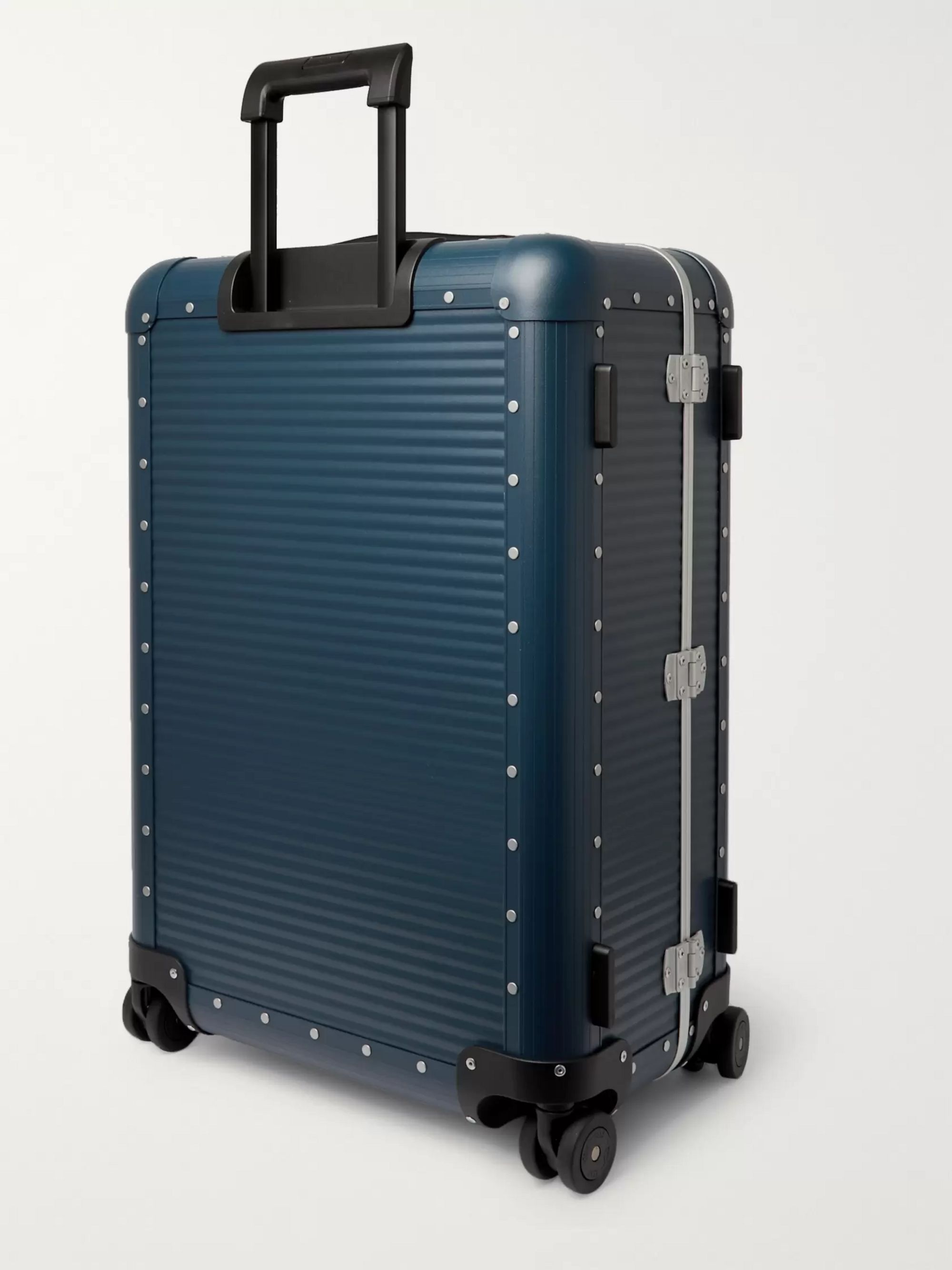 FPM MILANO Spinner 68cm Leather-Trimmed Aluminium Suitcase