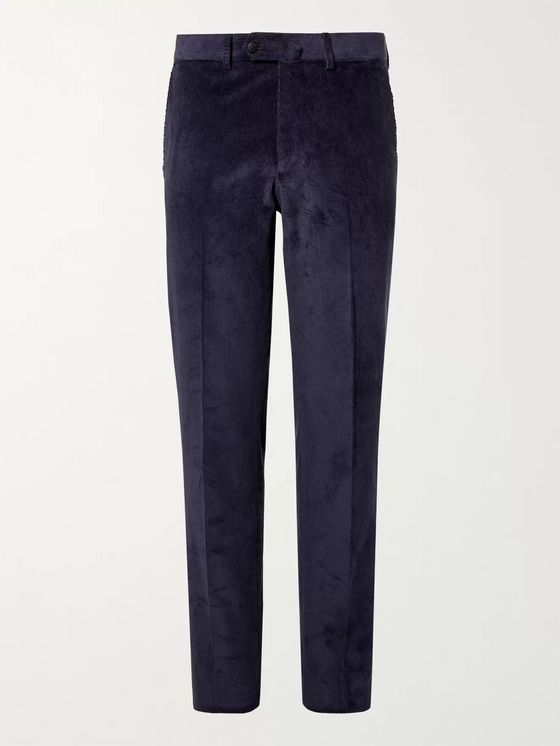 Caruso Stretch-Cotton Corduroy Suit Trousers