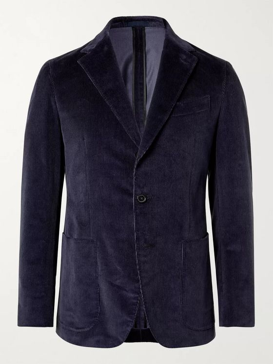 Caruso Slim-Fit Unstructured Cotton-Blend Corduroy Suit Jacket